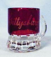 Ruby Stain Candy Scoop Souvenir Gettysburg PA Mug Early American Pattern Glass 6