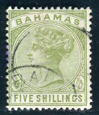 BAHAMAS 1884 17 gestempelt 5 SHILLING hoher WERT 120€++(D9804