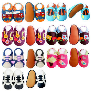 Boy Girl Baby Shoes Infant Toddler Kid Crib Rubber Sole Firstwalk Booties 0-3 Y