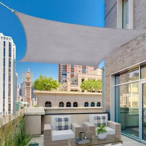 Waterproof Sun Shade Sail Canopy Patio Yard 98% UV Block Cover Outdoor Rectangle