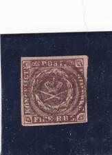 Denmark 1853 4RBS Thiele II printing used