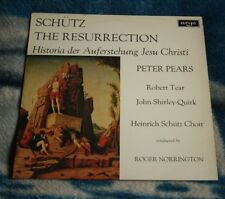 SCHUTZ THE RESURRECTION 1970 UK LP ARGO ZRG 639 PEARS, TEAR, NORRINGTON