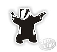 Banksy Badger With Guns Graffiti Funny Car Van Sticker Stickers Decal Sticker