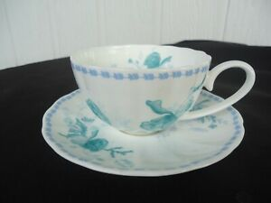 maxwell & williams cashmere charming atlantistea cup & saucer set teal green