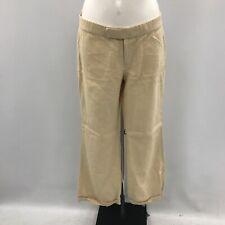Ralph Lauren Trousers Size UK 14 Low Rise Style Beige Linen Casual Summer 020909