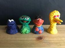 LOT of 4 Vintage Sesame Street Muppets Finger Puppets BIG BIRD,ERNIE+HAIR,OSCAR+
