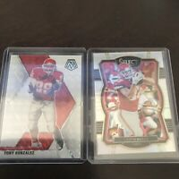 Panini Mosaic Tony Gonzalez White Base SSP /25 Plus Kelce Select Holo Chiefs