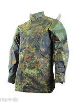 Military BDU Camo Camouflage Army Combat Jacket German Flecktarn