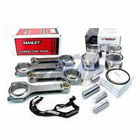 Wiseco Pistons Manley H Tuff Rods 99.5mm 8.9:1 for Subaru WRX STi EJ25 EJ257 FXT