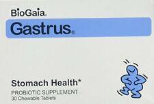 2 Pack BioGaia Gastrus Stomach Probiotic Chewable 30 Count Each