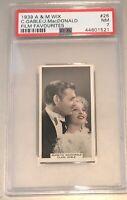 1939 A & M Wix Film Favourites #26 Clark Gable/Jeanette MacDonald PSA 7 NM
