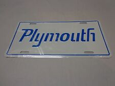 Plymouth Cuda Road Runner GTX Duster License Plate Blue