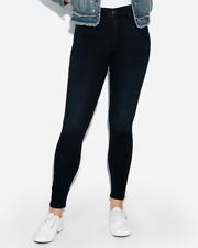 New EXPRESS High Waisted Denim Perfect Jean Legging Dark 8 Short 5 STAR REVIEWS!