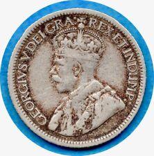 Canada 1934 10 Cents Ten Cent Silver Coin - F/VF