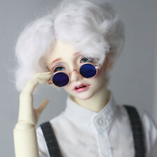 Blue Round Sunglasses glasses For 1/4 17in MSD AOD LUTS DK DZ  BJD Doll