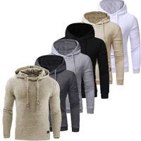 Mens Hoodies Sweatshirt Jacket Outwear Jumper Coat Sweater Hooded Pullover