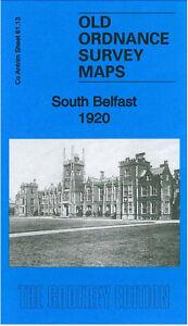 Old Ordnance Survey Map South Belfast 1920 - Antrim Sheet 61.13
