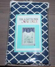 Traditions by Waverly Indigo Blue Ellis One Wave Valance NEW
