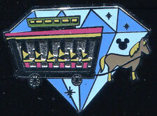Dlr 2015 Hidden Mickey Diamond Attractions Horse Drawn Streetcar Disney Pin