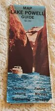 Vintage Lake Powell Map 1974 Colorful