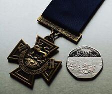 Victoria Cross Service Medal (Naval) & Silver WW2 D-Day Landing Commemorative