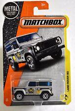 Matchbox Land Rover 90 #48 * Silver * Matchbox 2017 * Case G