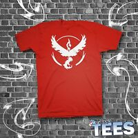 Team Valor Logo Pokemon Go Plus Red T-Shirt