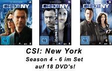 18 DVDs * CSI : NY - NEW YORK - STAFFEL / SEASON 4 - 6 IM SET  # NEU OVP §