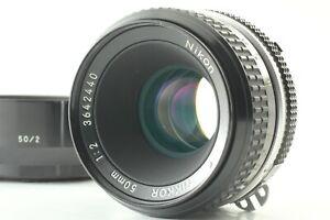 """EXC+5 w/ Hood"" Nikon AI Nikkor 50mm f/2 Standard Lens MF from Japan #003"