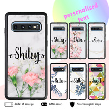 Galaxy Note 20 S20 Ultra Plus 10 Shockproof Case Marble Flower Personalised Name