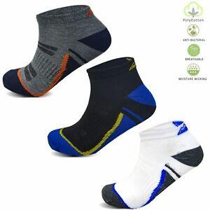 Mens Cushioned Trainer Liner Compression Fit Sports Socks Walking Running UK6-11