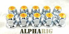 NEW - Universal -Lug Nut Cover with Flange- AMBER - (Multiple colors available)
