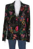 Paco Rabanne Womens Velvet Beverly Hills Blazer Multi Colored Size EUR 40