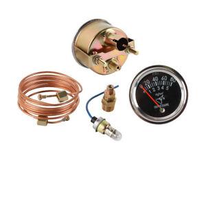 "Oil Pressure Gauge w/ 72"" Copper Tube Fits Ford NH 1801 2N 8N 9N 600 700 800 900"