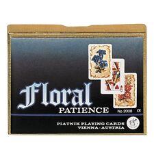 Piatnik 200847 - Patience Floral, 2 x 55 Blatt, Kartenformat 44 x 66 mm