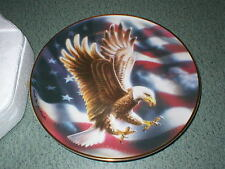 Franklin Mint The American Eagle Plate Ronald Van Ruyckevelt Eagle 24kt Rim
