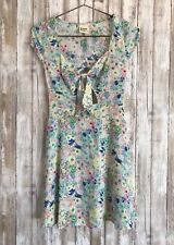 $156 DREAM STATE OOPSY DAISY TIE FRONT ELLOW MULTI FLORAL FLOWER DRESS XS RARE!