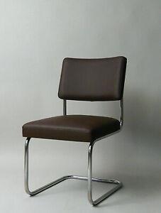 Thonet Bauhaus  M.Breuer B32   Freischwinger Stuhl  1935 Leder Neu gepolstert