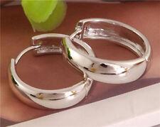 Women Fashion Jewelry 925 Sterling Silver Plated Small Hoop Huggie Earrings