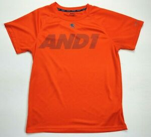 Boy's AND1 T Shirt Size XL 14-16  Bright Orange