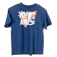 Yo MTV Raps Music Television T-Shirt Navy Mens Retro TV Logo