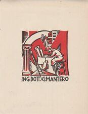 ex-libris ING DOTT G MANTERO par victor fleissig (CSR)