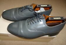 Boxed Men's Grenson Gallants All Leather Grey Round Toe Shoes Size 7.5