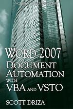 Word 2007 Document Automation With VBA And VSTO, Driza, Scott, Acceptable Book