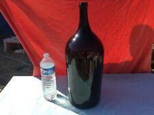 enorme bouteille 18 ou 19 eme ? en verre soufflé vert H59cm