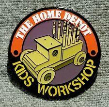 """LMH PINBACK Pin HOME DEPOT Kids Workshop FIRE TRUCK CRAYON HOLDER Firetruck 1"""""""