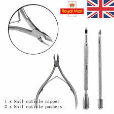 3pcs Nail Art Cuticle Spoon Pusher Clipper Nipper Manicure Steel Tool Kit Set