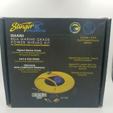Stinger Marine Amp Amplifier Wire Kit 3 Meters 8 AWG Gauge Power Ground SEA4283