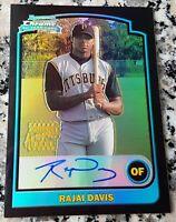 RAJAI DAVIS 2003 Topps Bowman Chrome REFRACTOR AUTO Rookie Card RC NEW YORK METS