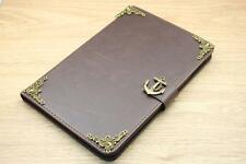 Anchor Magnetic Smart Cover Card Holder Handmade Stand Flip Case For iPad